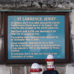 St Lawrence Jewry - board