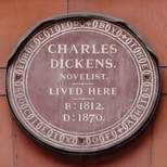 Dickens plaque - EC1