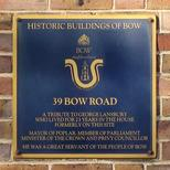 George Lansbury - plaque