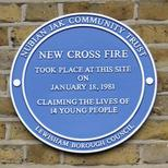 New Cross Fire - site of fire