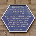 Dr John Snow - RSC plaque