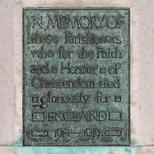 WW1 memorial at Church of St John of Jerusalem