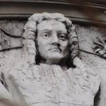 Newton bust