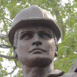 Unknown building worker statue