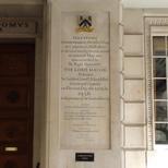 Carpenters' Hall plaque - rebuilding