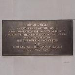 Lloyd's of London war memorial plaque