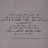 Lloyd's of London 1928 building foundation stone