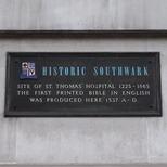 St Thomas' Hospital and bible