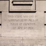 Islington Library foundation stone