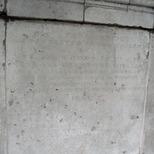 London Bridge alcoves in Victoria Park - inscription