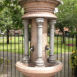 The Nelsons' drinking fountain