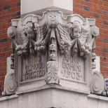 Sir John Cass Foundation, Aldgate - north corner