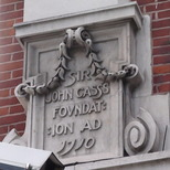 Sir John Cass Foundation, Aldgate - east corner