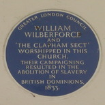 Holy Trinity Clapham - Wilberforce