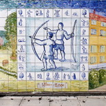 Charles Square mural - archery