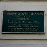 Robert Browning - W2 sculpture