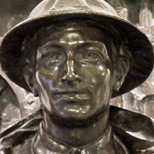 Middlesex Regiment war memorial with Ryder