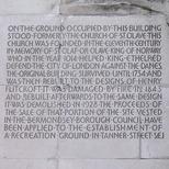 St Olaf House - plaque