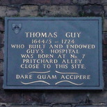 Thomas Guy birthplace