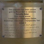 Natasha Baker gold post box