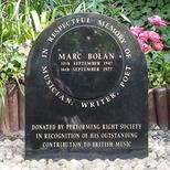 Marc Bolan shrine - PRS