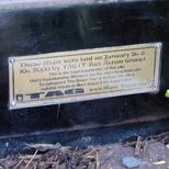 Marc Bolan shrine - plaque - TAG
