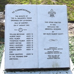 Walworth Boy Scouts Tragedy - new memorial