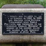 Hyde Park bomb - the horses