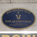 Poplar Town Hall - plaque