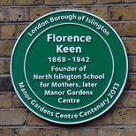Florence Keen - Islington plaque