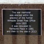 Western Postal District war memorial - Mount Pleasant