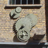 Power Station - cogs sculpture
