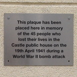 Castle pub WW2 bomb