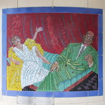 Hitchcock mosaics 02 - Hitchcock and Dietrich