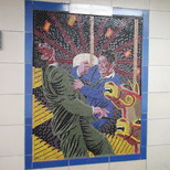 Hitchcock mosaics 12 - Strangers On a Train, 1951