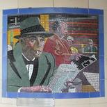 Hitchcock mosaics 16 - The Wrong Man, 1956