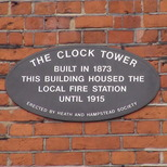 Clock Tower - Hampstead - new plaque
