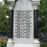 Upper North Street School WW1 bomb - memorial