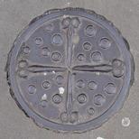 Bowler plaque - Scissors and Buttons - Brick Lane south