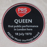 Queen's first gig