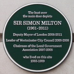 Sir Simon Milton plaque