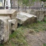 Euston Arch - temporary stones