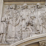 Henry III granting charter to Westminster Abbey