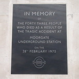 Moorgate tube disaster - Moorgate