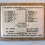 Hindle House - WW2 - first plaque - second appearance