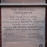 Caxton Hall - foundation stone