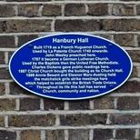 Hanbury Hall - blue oval plaque