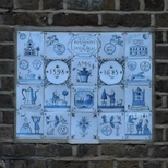 Hanbury Hall  - tiled plaque