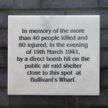 Bullivant's Wharf - WW2 bomb
