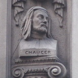 Temple Bar memorial - Chaucer